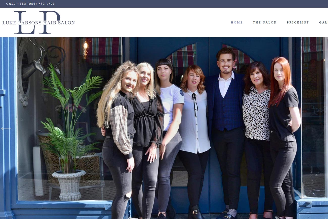 Hair Salon Website Kilkenny